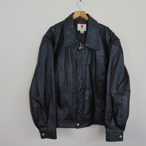 Other - Vintage Pepsi Men XL Zip Leather Jacket Coat Black